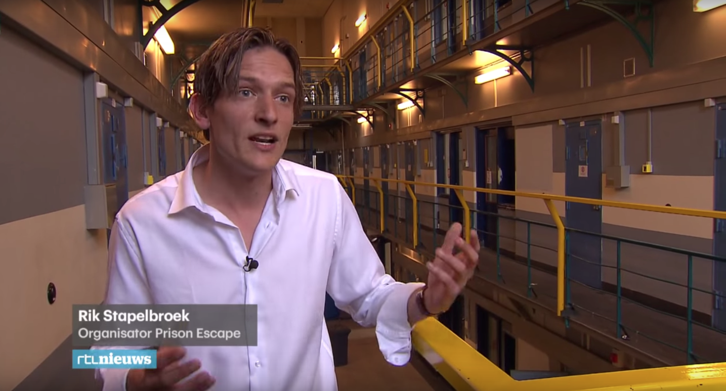 Rtl Nieuws Interviewt Rik Stapelbroek Van Prison Escape