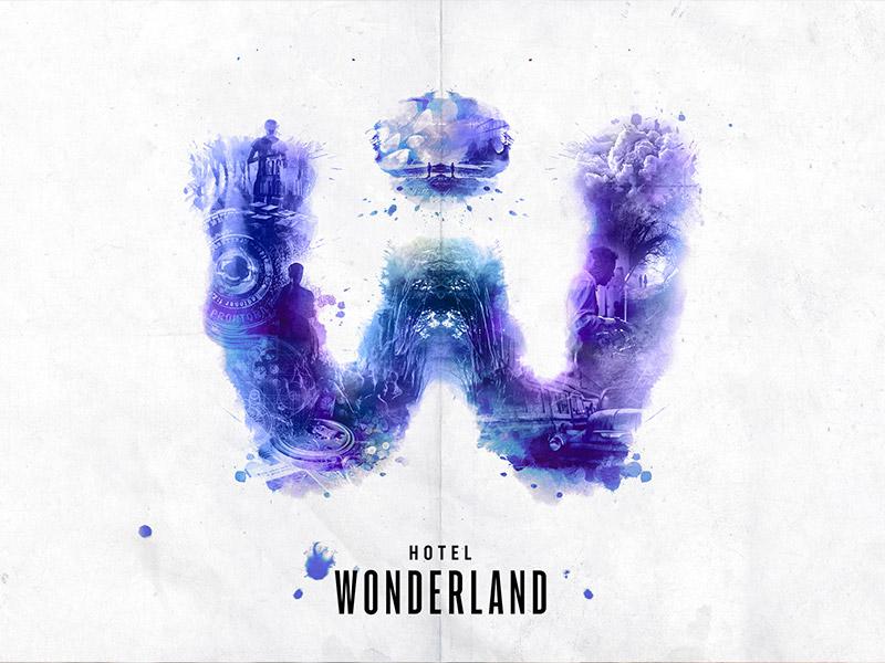 onderdompeltheater hotel wonderland logo banner